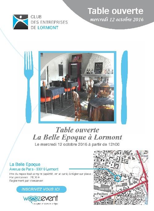 Table Ouverte