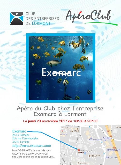 Visite Exomarc à Lormont - ApéroClub novembre 2017