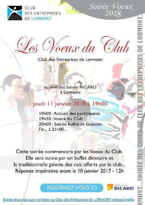 Voeux 2018 du Club des Entreprises de Lormont