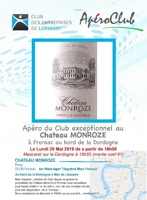 ApéroClub Mai 2019 Chateau Monroze